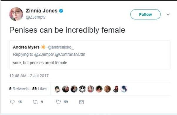 zINNIA jONES ON FEMALE PENISES