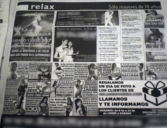 Anuncios Prostitución_Diario de Navarra