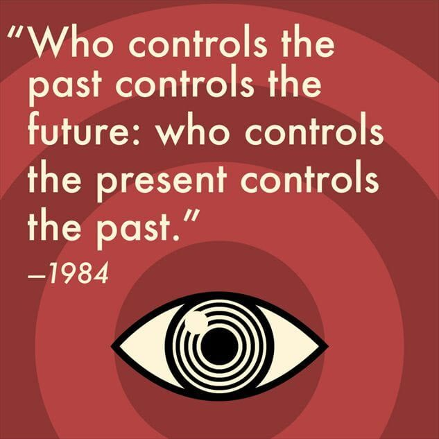 citat Orwell avec oeil