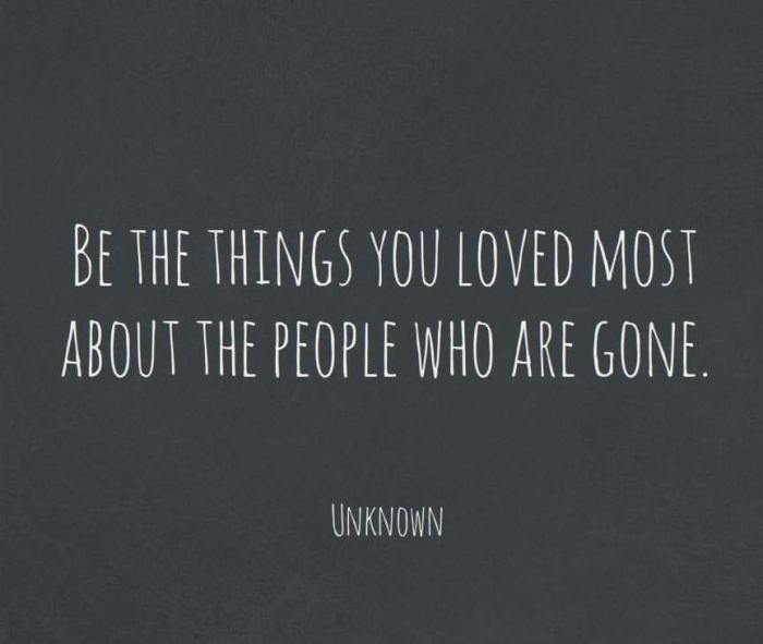be the things you loved most