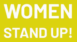 Women stand up